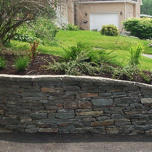 Flagstone Retaining Wall