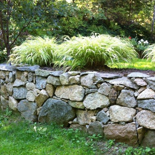 Natural Wall with Steps