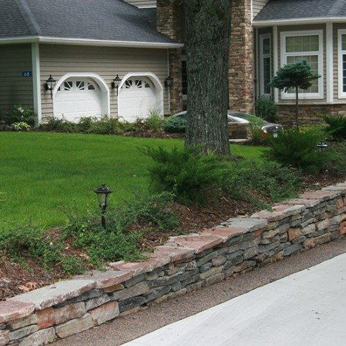 Stacked Flagstone Wall
